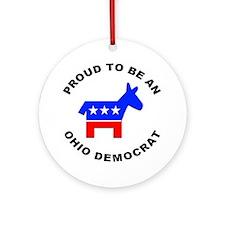 Ohio Democrat Pride Ornament (Round)
