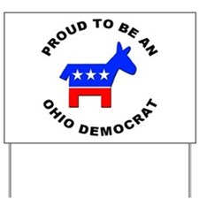 Ohio Democrat Pride Yard Sign