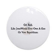 Get Real Ornament (Round)