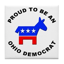 Ohio Democrat Pride Tile Coaster