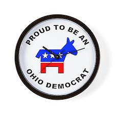 Ohio Democrat Pride Wall Clock