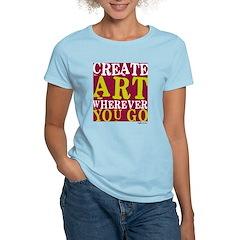 Create Art Women's Pink T-Shirt