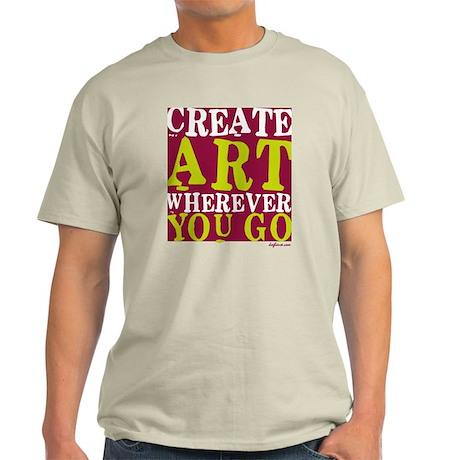 Create Art Ash Grey T-Shirt
