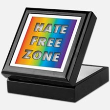 Hate Free Zone Keepsake Box