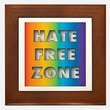 Hate Free Zone Framed Tile