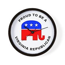 Virginia Republican Pride Wall Clock