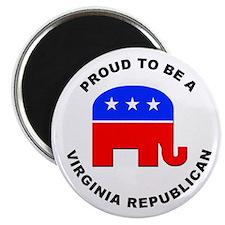 Virginia Republican Pride Magnet