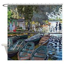 Monet Bathers at La Grenouillère Shower Curtain