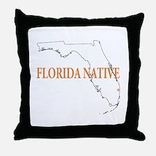 Florida Native Throw Pillow