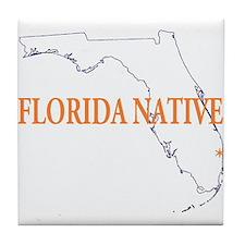 Florida Native Tile Coaster