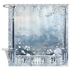 Winter Balcony View Shower Curtain
