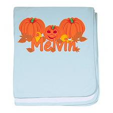 Halloween Pumpkin Melvin baby blanket
