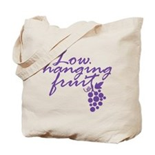 Low Hanging Fruit Grapes Wine Lover Tote Bag