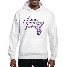 Low Hanging Fruit Grapes Wine Lover Hoodie