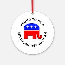 Michigan Republican Pride Ornament (Round)