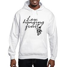 Low Hanging Fruit, Grapes, Wine Lover Hoodie