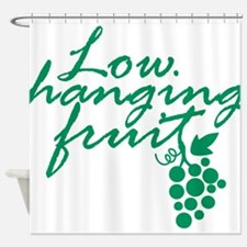 Low Hanging Fruit, Grapes, Wine Lover Shower Curta
