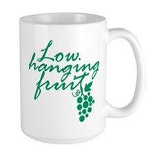 Low Hanging Fruit, Grapes, Wine Lover Mug