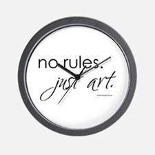 No Rules. Just art. Wall Clock