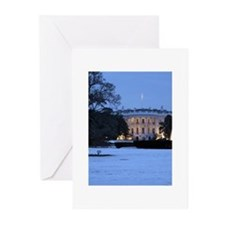 white house snow Greeting Cards (Pk of 20)