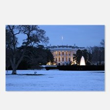 white house snow Postcards (Package of 8)