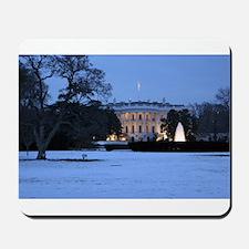 white house snow Mousepad