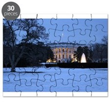 white house snow Puzzle