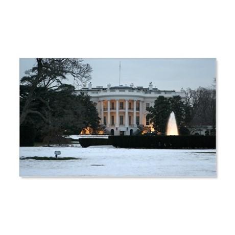 white house snow 20x12 Wall Decal