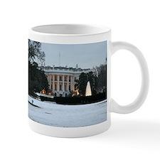 white house snow Mug