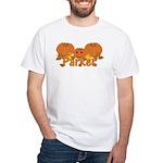 Halloween Pumpkin Parker White T-Shirt