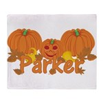 Halloween Pumpkin Parker Throw Blanket