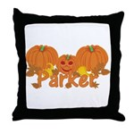 Halloween Pumpkin Parker Throw Pillow