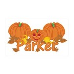 Halloween Pumpkin Parker 35x21 Wall Decal