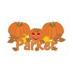 Halloween Pumpkin Parker 35x21 Wall Decal