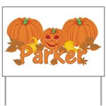 Halloween Pumpkin Parker Yard Sign