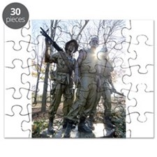 Vietnam war memorial three service men Puzzle
