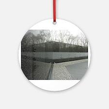 Vietnam war memorial wall reflection Ornament (Rou