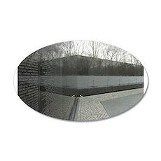 Vietnam war memorial wall reflection Wall Decal