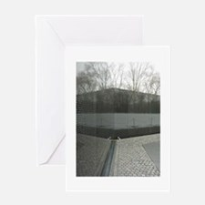 Vietnam war memorial wall reflection Greeting Card
