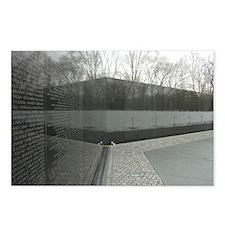 Vietnam war memorial wall reflection Postcards (Pa