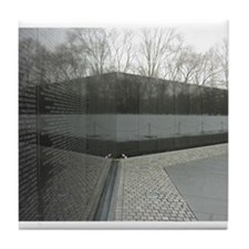 Vietnam war memorial wall reflection Tile Coaster