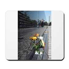 Vietnam Veterans Memorial Wall Rose Mousepad