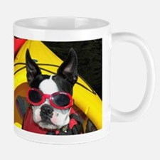 Red Goggled Boston Terrier Mug