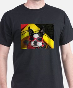 Red Goggled Boston Terrier T-Shirt