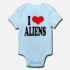 ilovealienswordblk.png Infant Bodysuit
