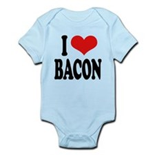 ilovebaconblk.png Infant Bodysuit