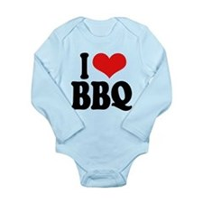 ilovebbqblk.png Long Sleeve Infant Bodysuit