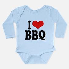 ilovebbqblk.png Long Sleeve Infant Bodysuit