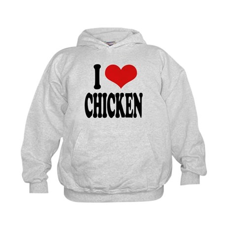ilovechickenblk.png Kids Hoodie