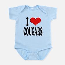 ilovecougarsblk.png Infant Bodysuit